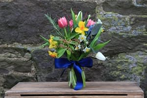 Mothers Day Spring Jam Jar Posy